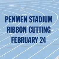 SNHU Penmen Stadium Ribbon Cutting, February 24, 2018