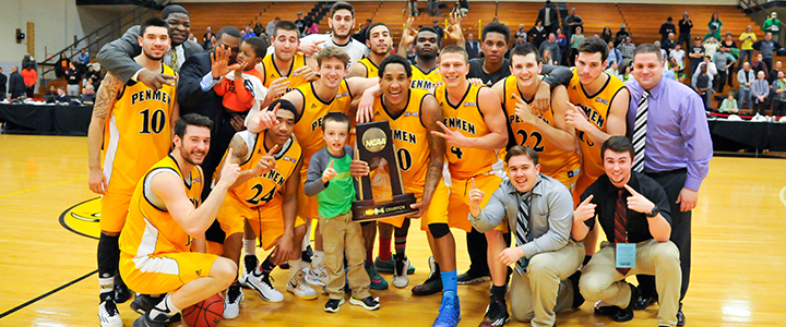 SNHU Men's Basketball, 2015 NCAA D-II East Regional Champions