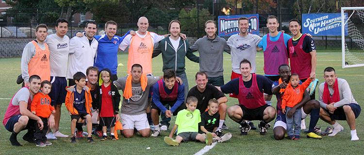 SNHU Men's Soccer Alumni Game at Homecoming 2014
