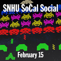 SNHU SoCal Social | February 15, 2020 | Video game icons displayed