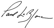 President Paul LeBlanc