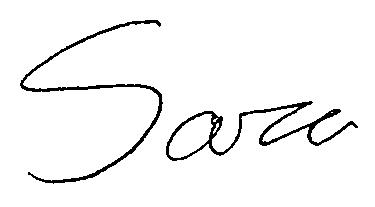 Sara Telfer Signature