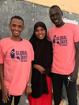 Global Days of Service participants in Kakuma